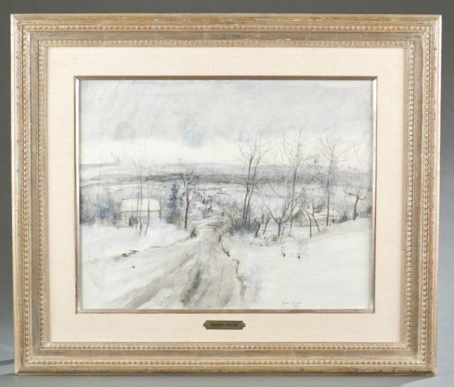 Bernard Gantner, Winter Landscape, 1973.