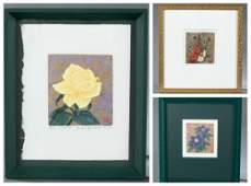 3 Japanese silkscreen prints, Kazutoshi Sugiura.