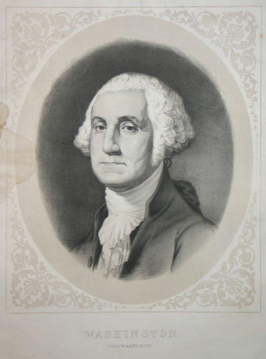 1022: George Washington. Lithograph.