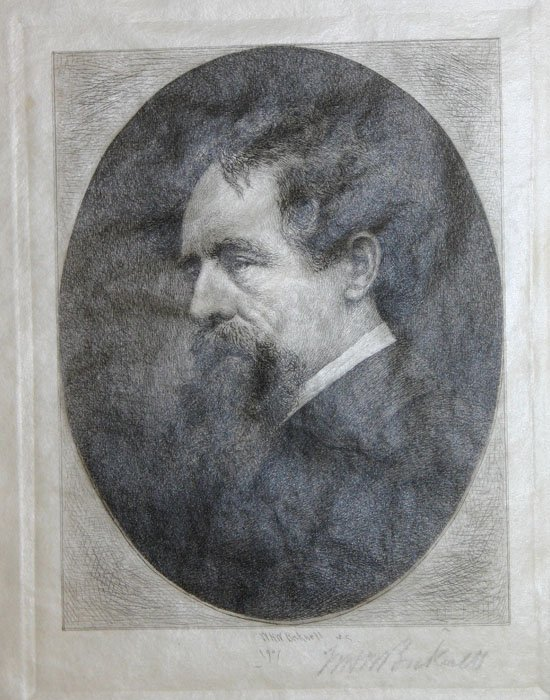 1023: Bicknell, William. 3 portraits, etchings