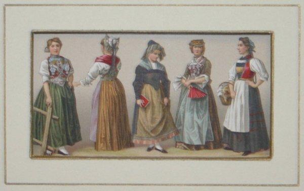 1040: 19 Miscellanous color prints, 19th cantury.