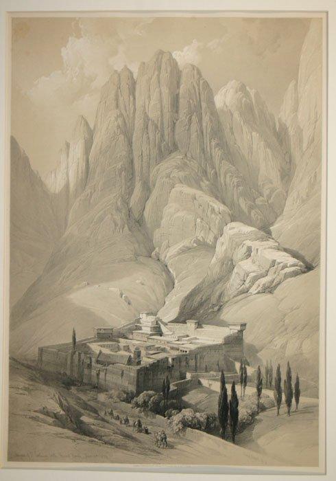47: David Roberts: 2 Lithos (incl. Mt. Horeb) 1844-48.