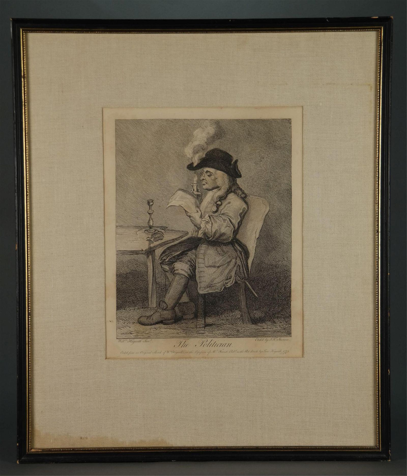 Hogarth. The Politician. 1775.