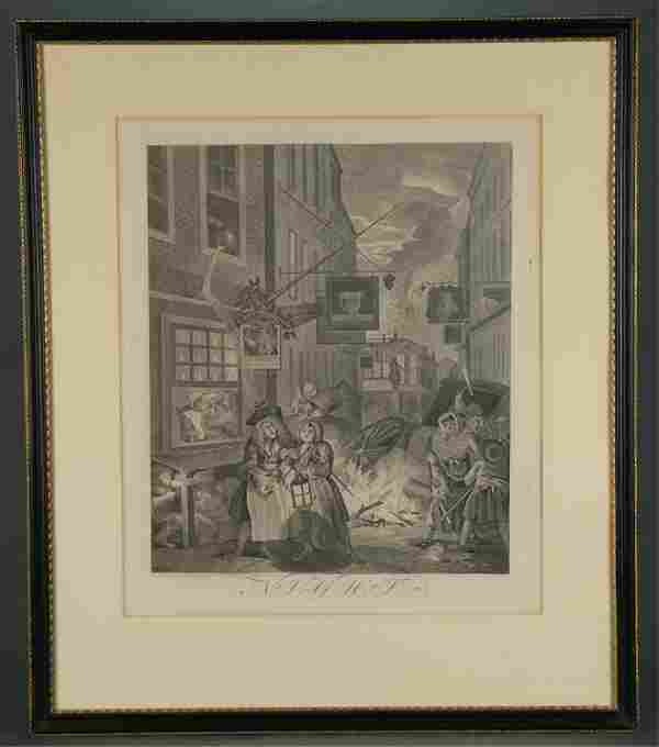 Hogarth. Night: Four Times of The Day. 1738.