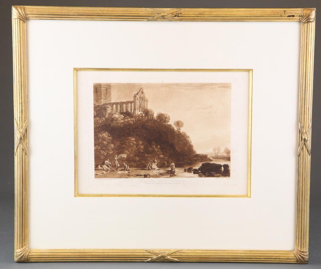 Turner. Dumblain Abbey + Brougham Castle. 19th c.