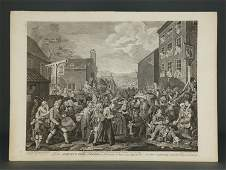 Hogarth Group of 16 Prints ca 17331822