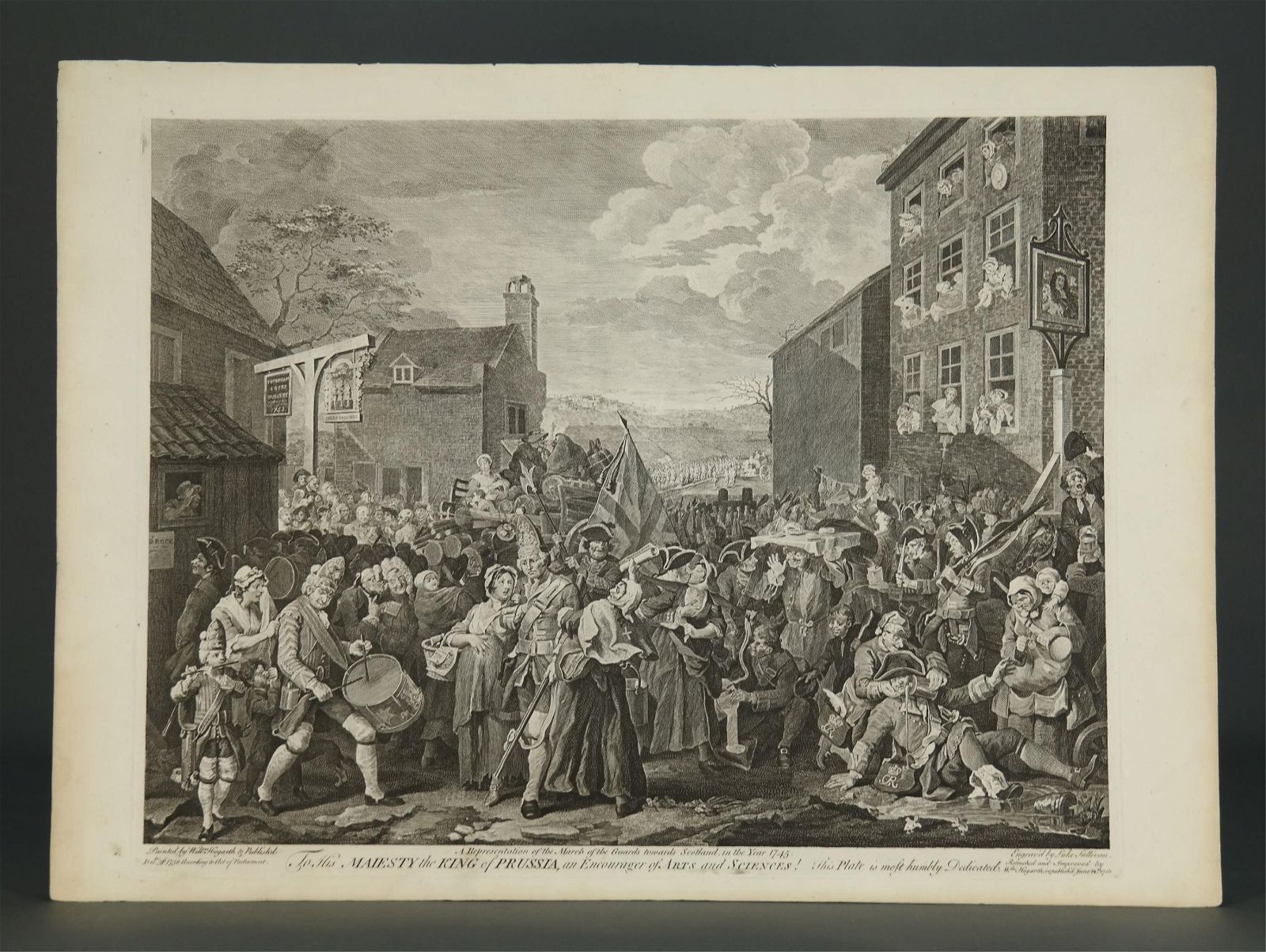 Hogarth. Group of 16 Prints. ca. 1733-1822.