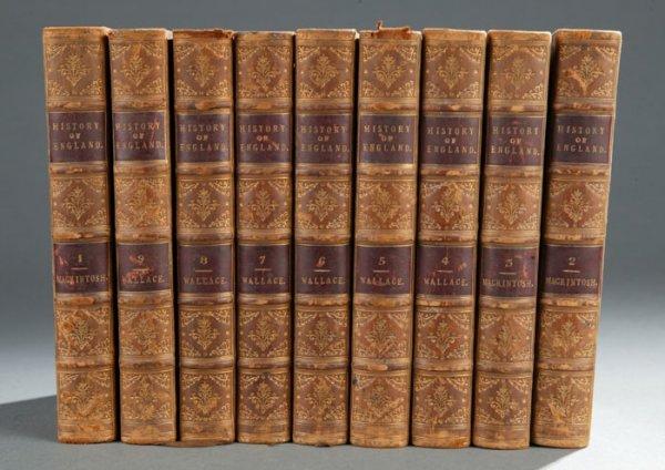 2016: Mackintosh THE HISTORY OF ENGLAND, 9 vols, 1830-3