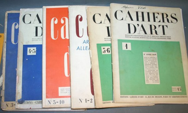 2283: CAHIERS D'ART, with orig color litho by Joan Miro