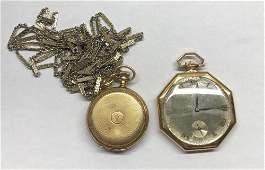 2 14k gold pocket watches