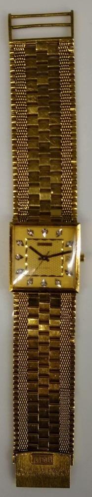 Juvenia Swiss Automatic 18k gold & diamond.