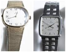 2 Omega Bracelett Wristwatches
