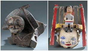 2 Nigerian Masks. 20th c.