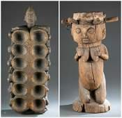 2 Yoruba Style Objects. 20th c.
