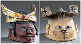 2 Yoruba Gelede Society Masks. 20th c.
