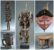 5 African objects 20th c