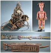 4 African Objects. 20th c.