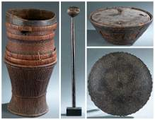 4 Ethnographic Utilitarian Objects 20thc
