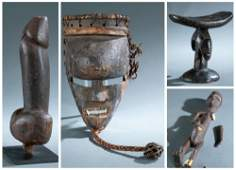 4 Ethnographic Objects. 20th c.