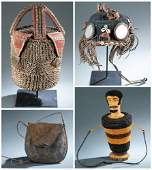 4 Ethnographic Personal Objects. 20th c.