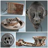 5 Ethnographic Objects. 20th c.