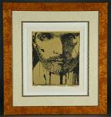 Leonard Baskin SelfPortrait Artists Proof