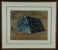 Christo Lithoserigraph The Mastaba 1997 560