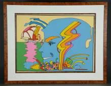Peter Max Serigraph Mystic Sailing 1972