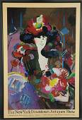 Peter Max. Signed Poster. 1990.