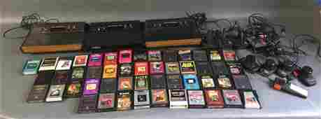 3 Atari Video Computer System consoles  50 games