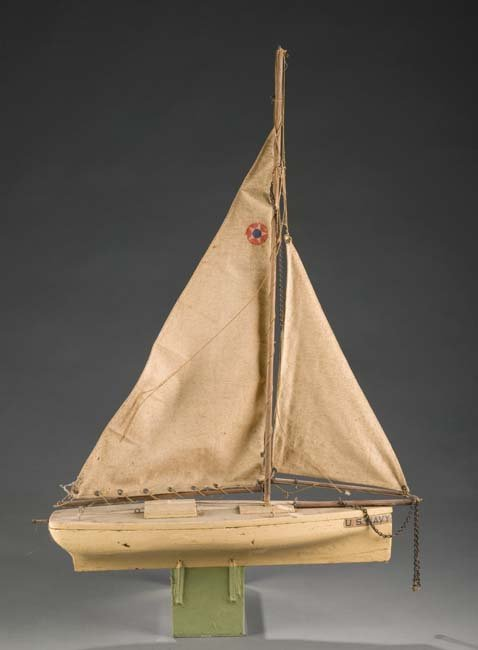 2019: Handmade Navel Sail Boat Model