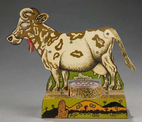 2021: Tin Lithograph ''Press My Tail'' Articulated Cow