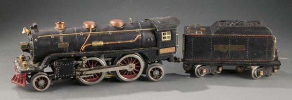 2057: Pre War Lionel Standard Gauge Locomotive & Tender