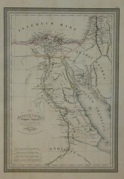 1001: Northern Africa: 4 maps, 1825-1842. Color & col O