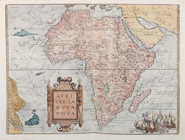 1002: Ortelius map, Africae Tabulae Nova, c.1574