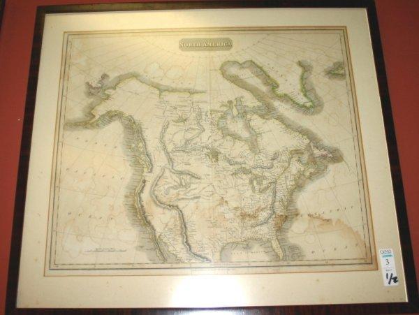 1003: 2 maps:South America 1803, Morth America [1814-17