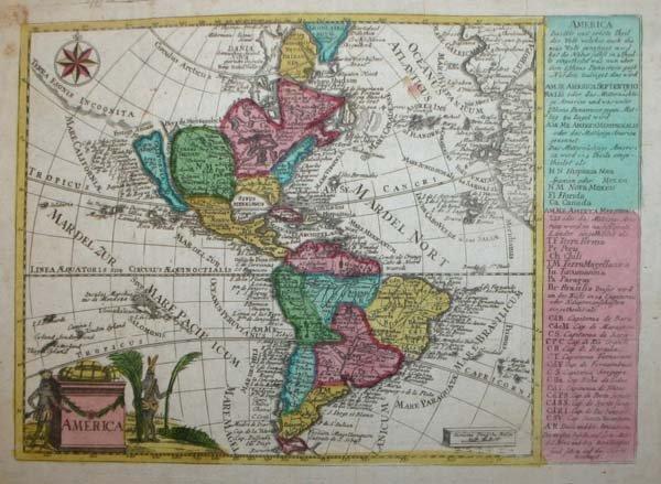 1005: 18th Century map of New World, insular California
