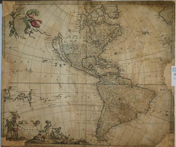 1006: Americas map by de Wit, c.1680