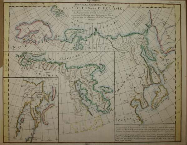 1007: Vaugondy, Map of Arctic, c.1772.