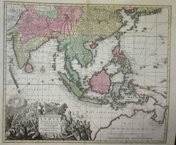 1009: Seutter. India Orientalis, c.1740