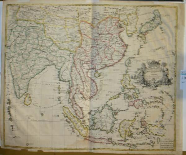 1010: Senex, A New Map Of China & India c.1721
