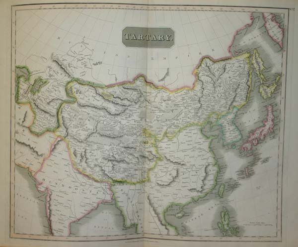 1014: Thomson maps of Tartary, and Asia, c.1814-17