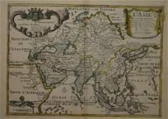 1015 2 Maps Scythia 1729  De Fer LAsie 1717