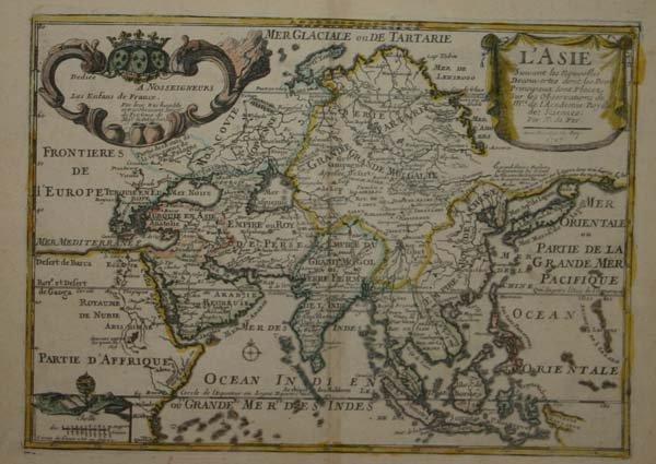 1015: 2 Maps: Scythia [1729] + De Fer, L'Asie 1717