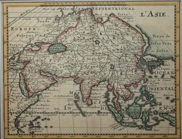 1021: 3 maps: Moll, China, Japan; E. Hemisphere; Asia.
