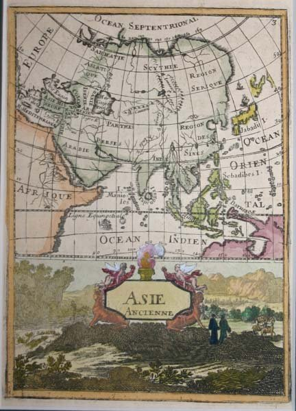 1023: Mallet, 3 maps: Asia & China. c.1683