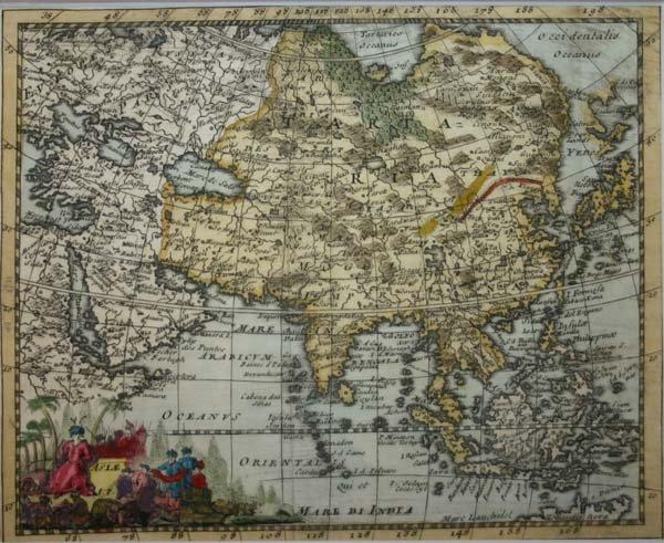 1024: Asia: 3 maps: Cluver, Giustiniani, Herman Moll...