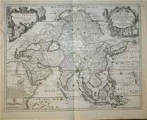 1056 De Fer map of LAsie 1705