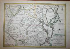 1093 3 maps of ChinaAsia De Fer 1705  Bayly 1782
