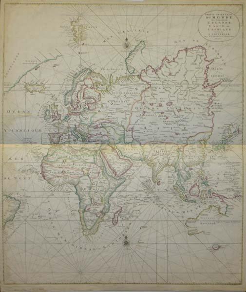 1109: Partie Orientale Du Monde map, c.1730